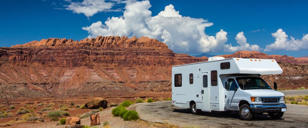 RV parked on a vacation