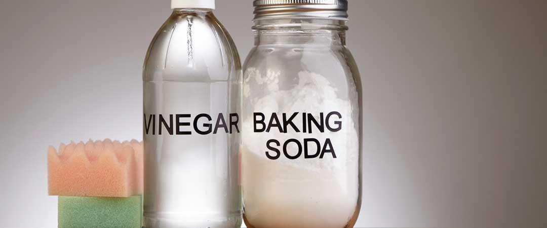 Jar of Vinegar and Baking Soda