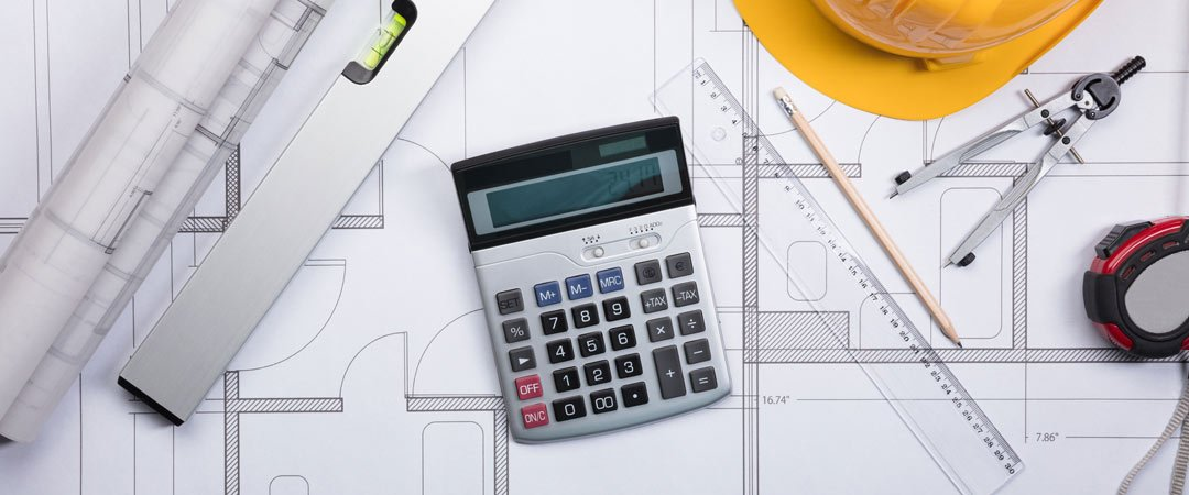 Calculator and house plans