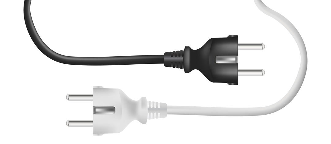 Black and White Electrical Cords