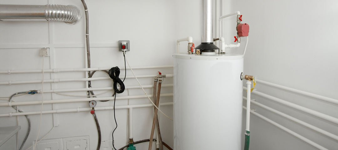 Gas water heater in a basement