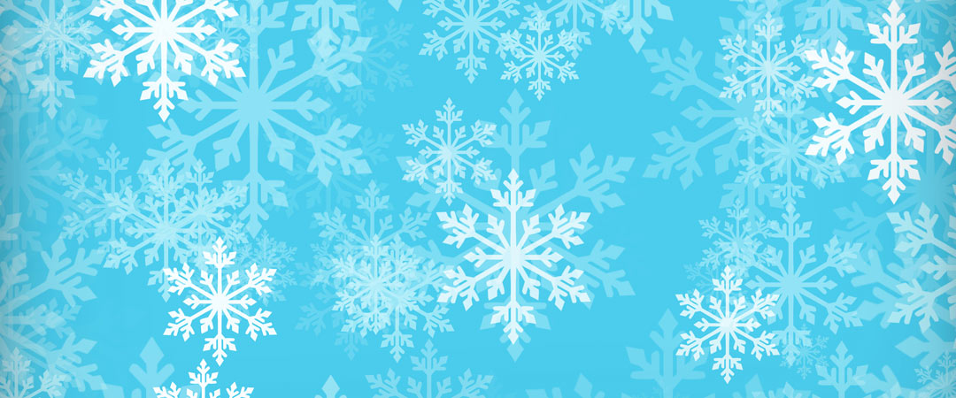 Snow flakes on a blue background