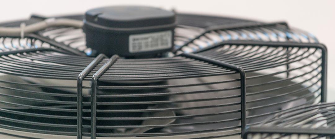 Fan on top of HVAC unit