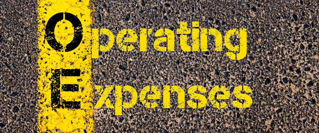 Operating Expenses painted onto road